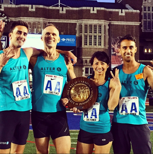 AlterG Takes Home 3rd Title at the Penn Relays Corporate Distance Medley Relay