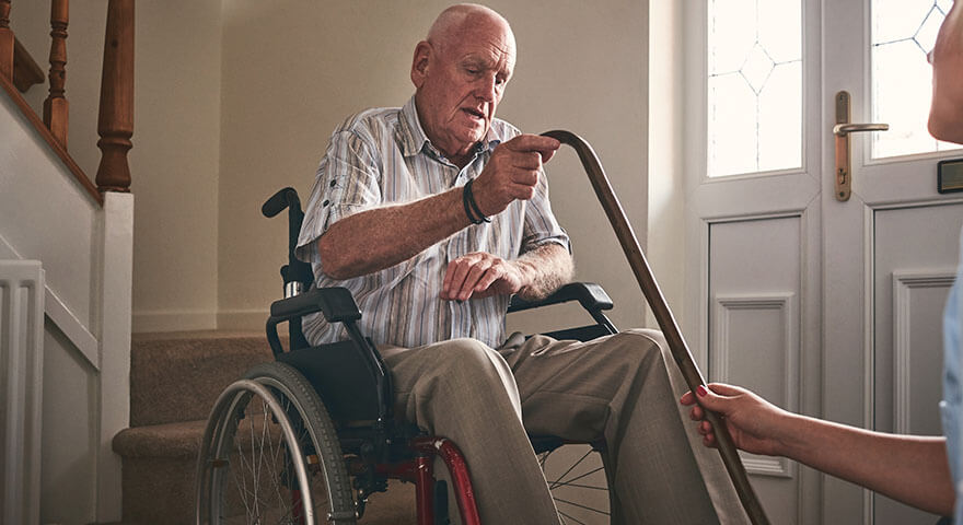 Better Stroke Rehab – man in wheelchair