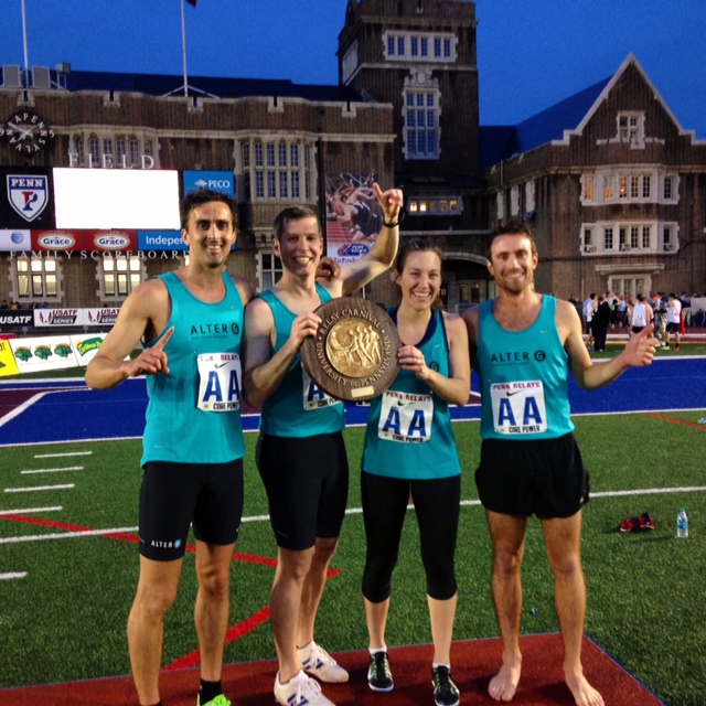 AlterG Defending Title at the 2015 Penn Relays Corporate Distance Medley Relay